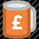 coffee, coffee cup, crockery, cup, pound cup, tea, tea cup icon