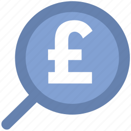 glass, magnifier, magnifying glass, pound search, zoom icon