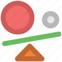 balance, balance swing, business, seesaw, seesaw balance icon