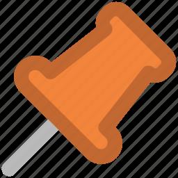attachment, nail pin, office material, office supplies, pin, push pin, thumbtack icon