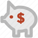 balance, donation, finance, funds, money stock, piggy bank, savings icon