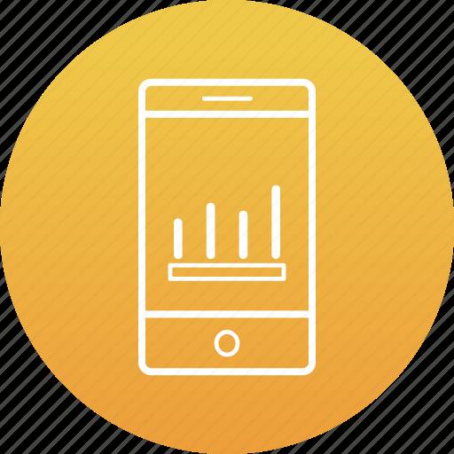 business, graph, mobile graph, online graph icon