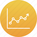 business chart, data chart, finances, graph report, growth chart icon