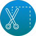 border line, coupon, discount, scissor, voucher icon