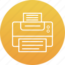 facsimile, facsimile machine, fax, fax machine, printer icon