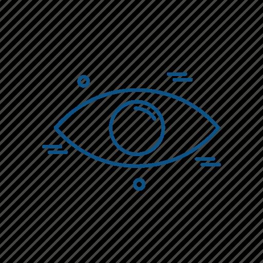 business, eye, marketing, trade icon