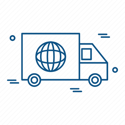 business, marketing, trade, truck icon