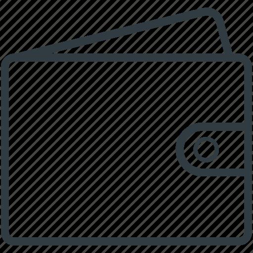 leather wallet, pocket purse, pocketbook, purse, wallet icon