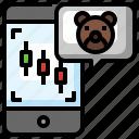 bear, market, investment, stock, down, arrow