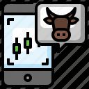 bull, market, investment, stock, up, arrow