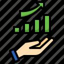 increasing, bar, graph, profit, marketing, graphic, statistics