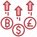 currency, exchange, euro, dollar, baht