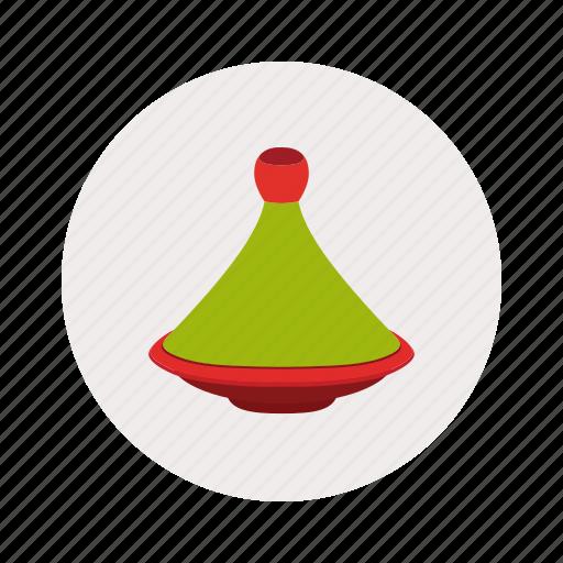 artisanal, moroccan, plat, plate, tajine icon