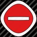 forbid, sign, way
