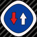 advantage, drive, road, sign icon
