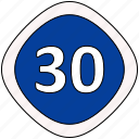 limit, recomended, sign, speed icon