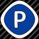 car, garage, parking, traffic icon