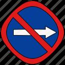 forbid, prohibited, road, traffic icon
