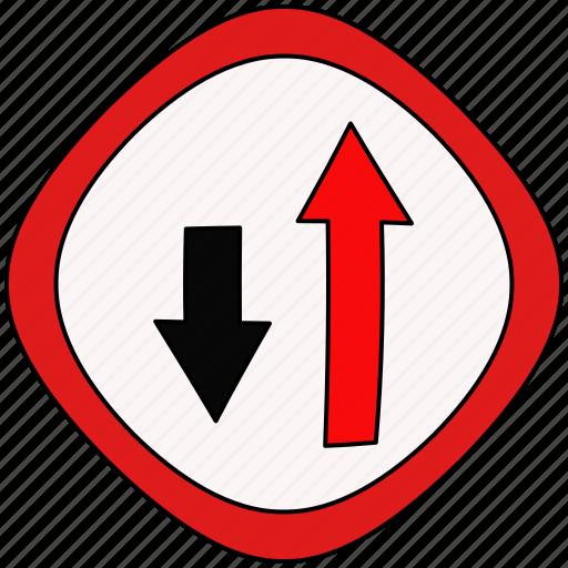drive, path, road, traffic icon