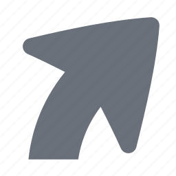 arrow, pika, right turn, simple, traffic, transportation icon