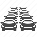 car, congestion, jam, stuck, traffic, transport, transportation icon