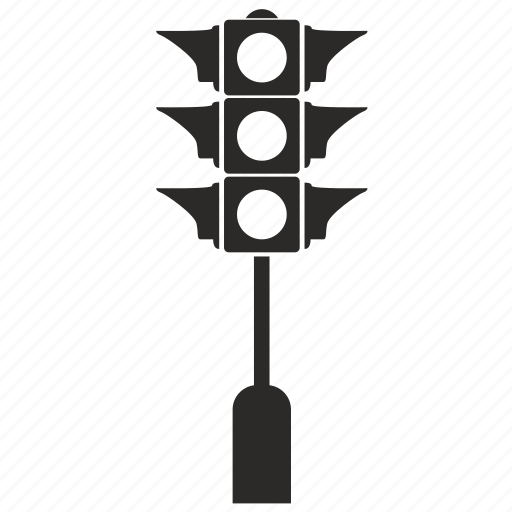light, pole, traffic icon