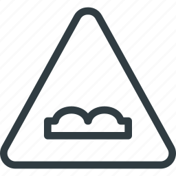 atention, road, sign, traffic, uneven icon