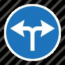 danger, road, sign, traffic, transportation, turn left right, warning icon
