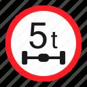 danger, maximum axle load, road, sign, traffic, transportation, warning icon