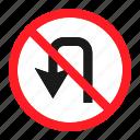 danger, road, sign, traffic, transportation, u turn, warning icon