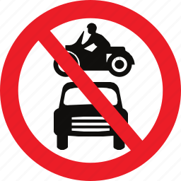 all, motor, prohibited, regulatory, sign, traffic sign, vehicles icon