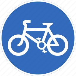 bicycles, only, regulatory, traffic sign icon