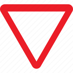 give, regulatory, sign, traffic sign, way icon
