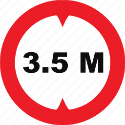 height, limit, regulatory, sign, traffic sign icon
