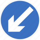 keep, left, regulatory, sign, traffic sign icon