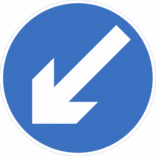 keep, left, regulatory, sign, traffic sign icon