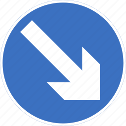 keep, regulatory, right, sign, traffic sign icon