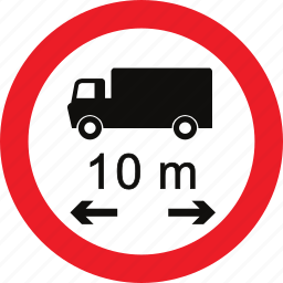 length, limit, regulatory, sign, traffic sign icon