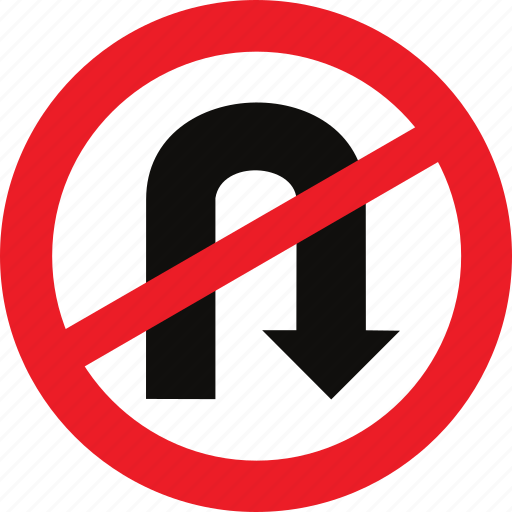 no u turn regulatory traffic sign u turn icon