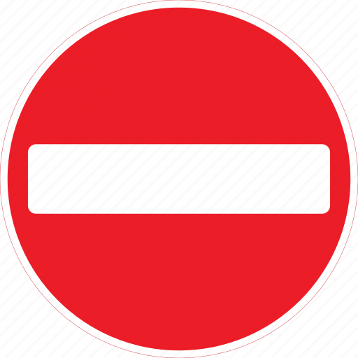 entry, no, regulatory, sign, traffic sign icon