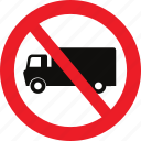 heavy, no, traffic sign, vehicles icon