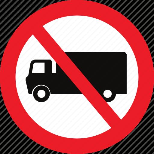heavy, no, traffic sign, vehicles icon