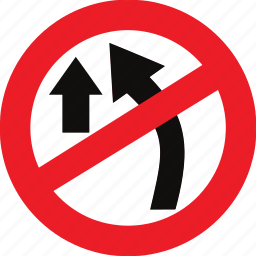 no, overtaking, regulatory, sign, traffic sign icon