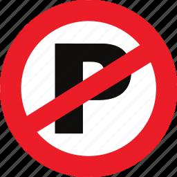 no, parking, regulatory, sign, traffic sign icon
