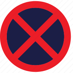 no, regulatory, sign, stopping, traffic sign icon