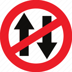 no vehicles in both direction, regulatory, sign, traffic sign icon