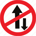 one, regulatory, sign, traffic sign, way icon