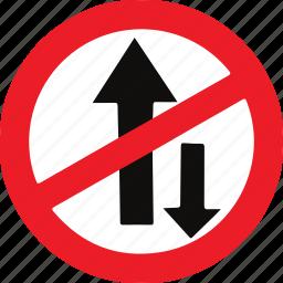 one, regulatory, sign, traffic sign, way icon