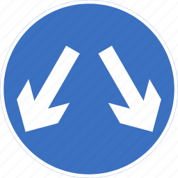 either, pass, regulatory, side, sign, traffic sign icon