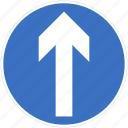ahead, proceed, regulatory, straight, traffic sign icon